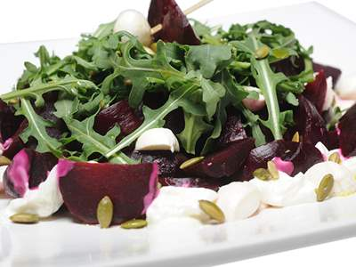 Beets Bocconcini and Sunflower Seed Salad